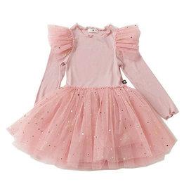 Petite Hailey Dusty Pink Frill Tutu Dress