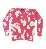 Flowers by Zoe Pink Bleach Sweater