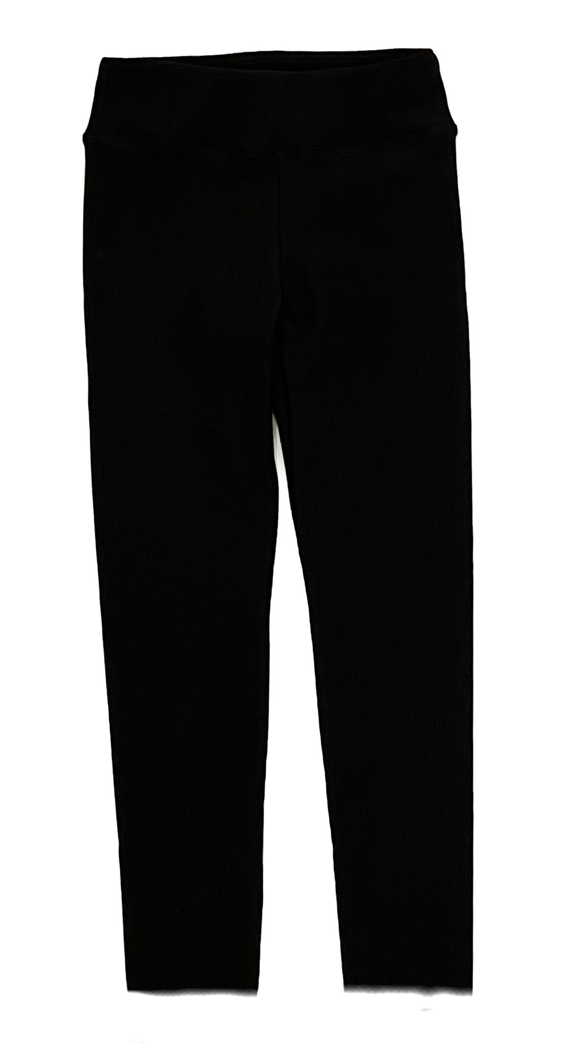 SLS Black Thick Ribbed Legging