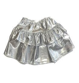 Dori Silver Lame Skirt