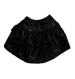 Dori Black Lame Skirt