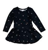Sofi Black Floral Infant Dress