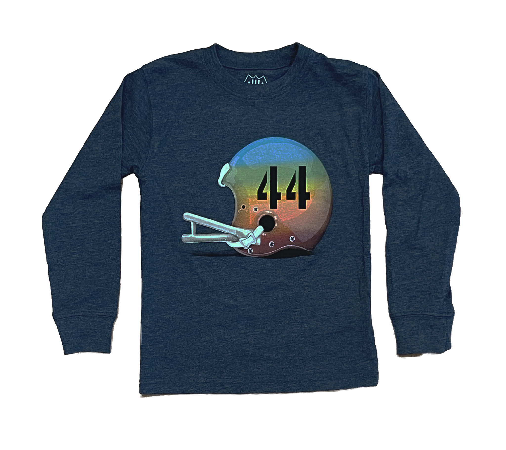 Wes and Willy Heather Navy Helmet LS Tee