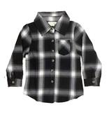 Miki Miette Black/White Plaid Button Up