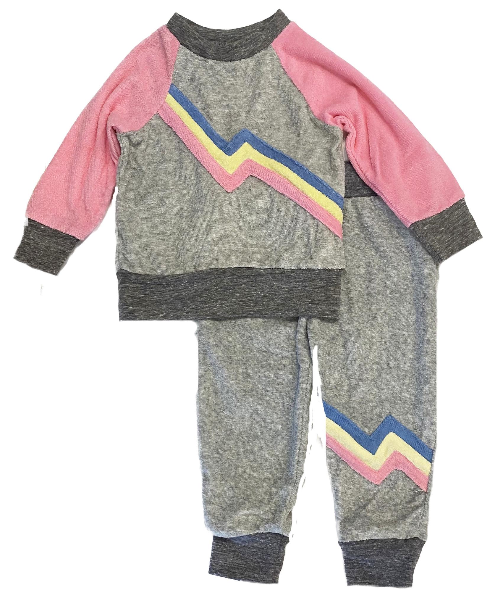 Miki Miette Pink Zeppelin Infant Set