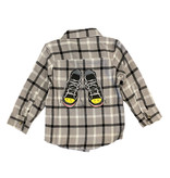 Mish Grey Sneakers Plaid Flannel Shirt