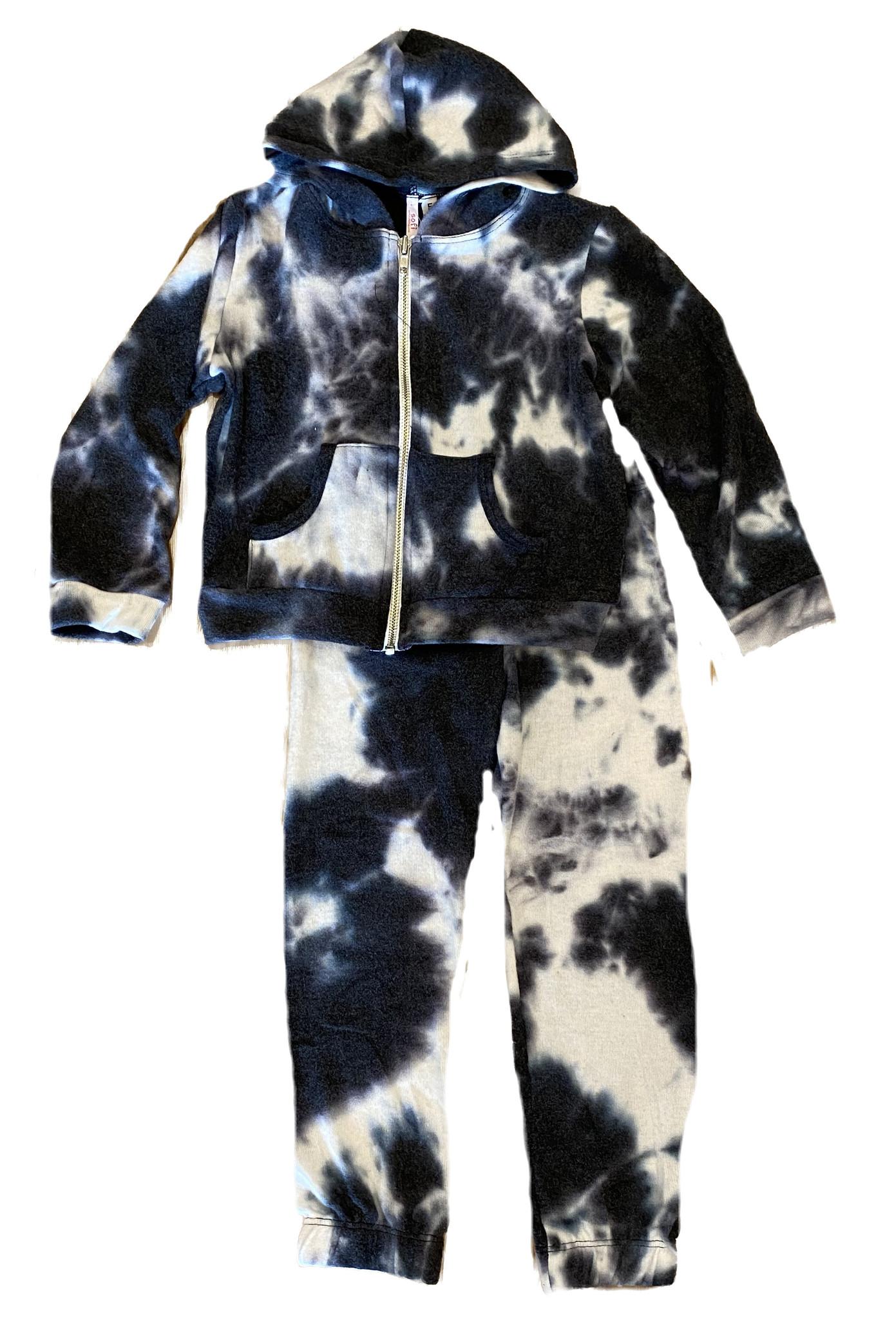 Sofi Hacci Blk/Wht Tie Dye Set