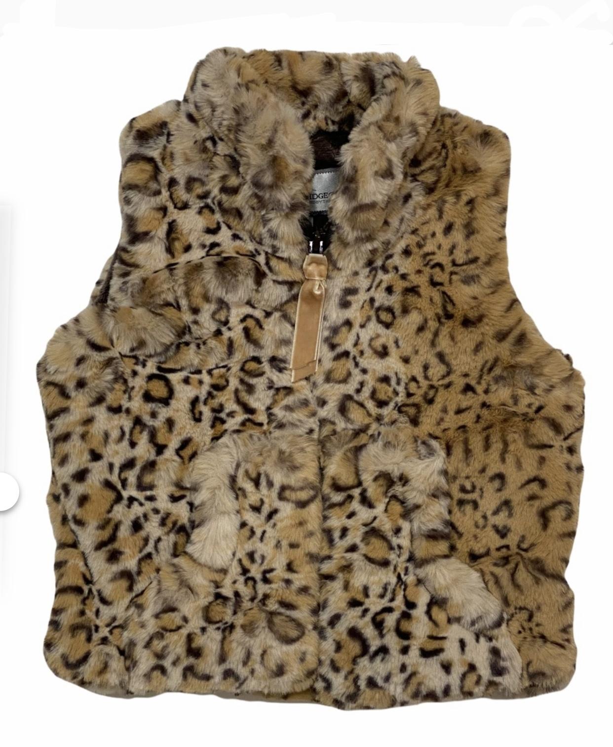 Caramel Leopard Faux Fur Vest