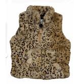 Caramel Leopard Faux Fur Infant Vest