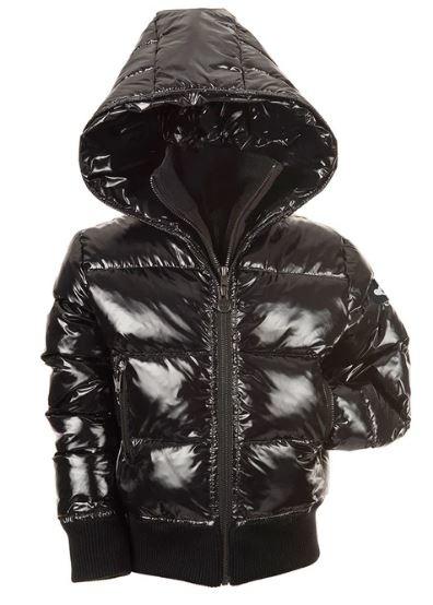 Appaman Shiny Black Flurry Coat