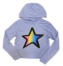 Firehouse Lavender Ombre Star Hoodie