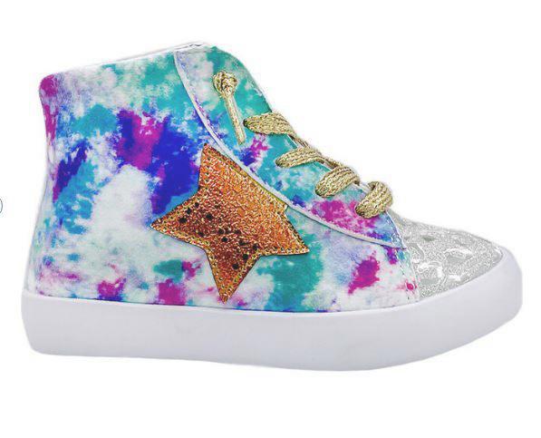 StyleChild Avery Multi Silver Hi-Top Sneaker