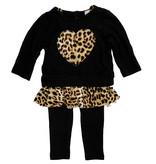 Little Mass Leopard Heart Cami Toddler Set