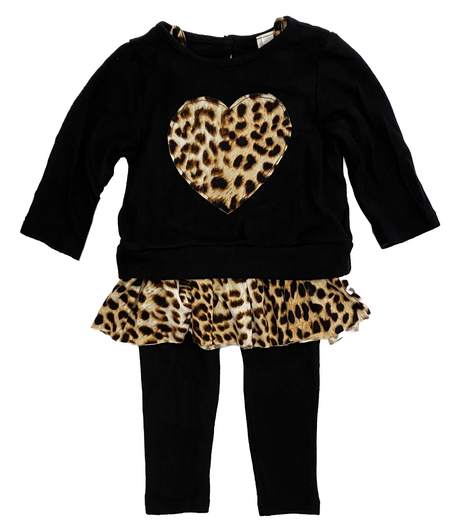 Little Mass Leopard Heart Cami Set