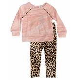 Little Mass Pink Brushed Leopard Set