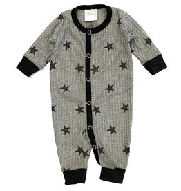 Too Cute Grey Star Waffle Outfit