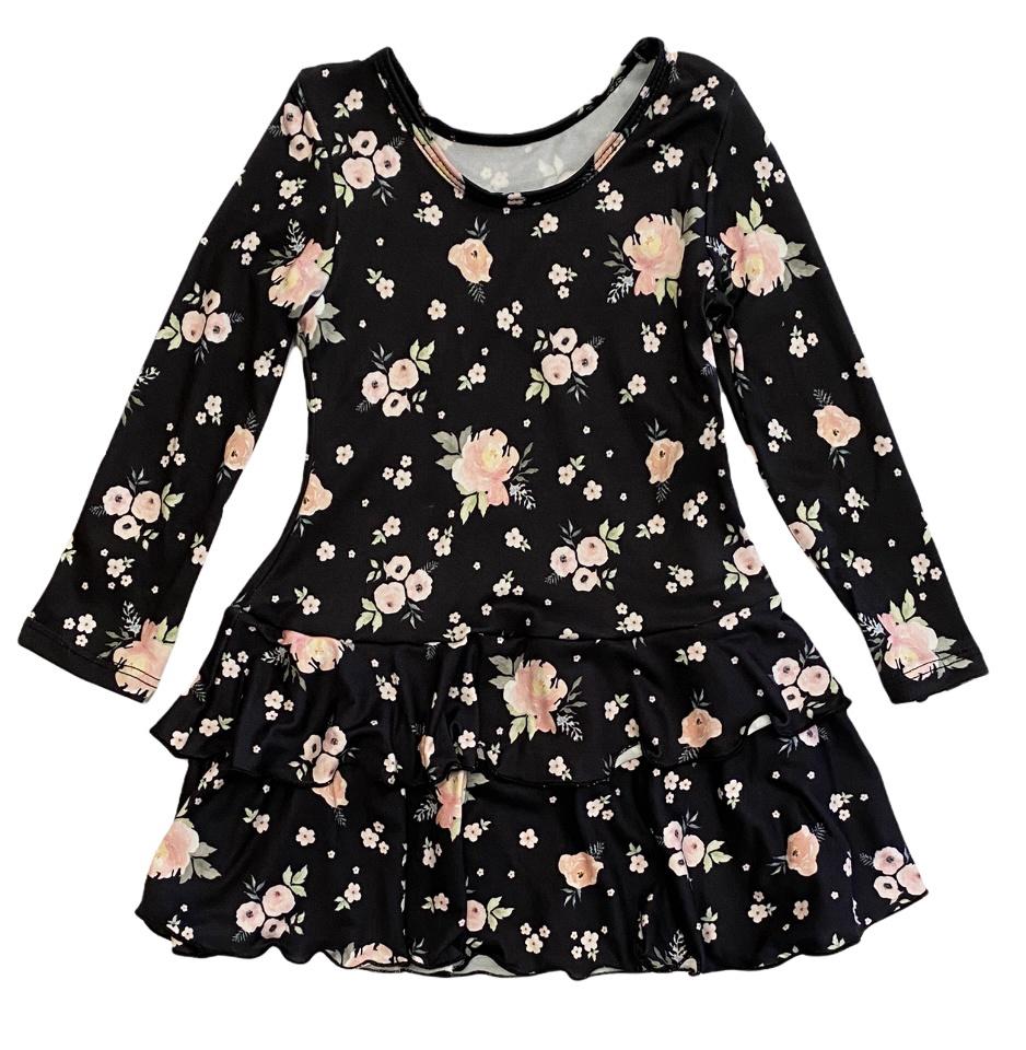 Social Butterfly Roses Ruffled Dress