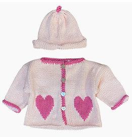 Luba-Robert Pink Heart Sweater