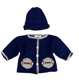 Luba-Robert Navy Football Sweater