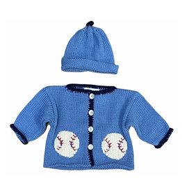 Luba-Robert Denim Baseball Sweater