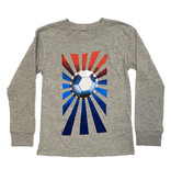 Wes and Willy Heather Soccer Ball LS Tee