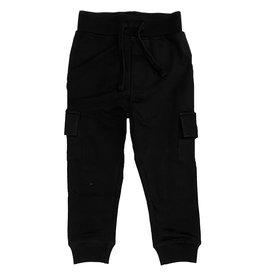 Mish Black Cargo Pocket Jogger Pant