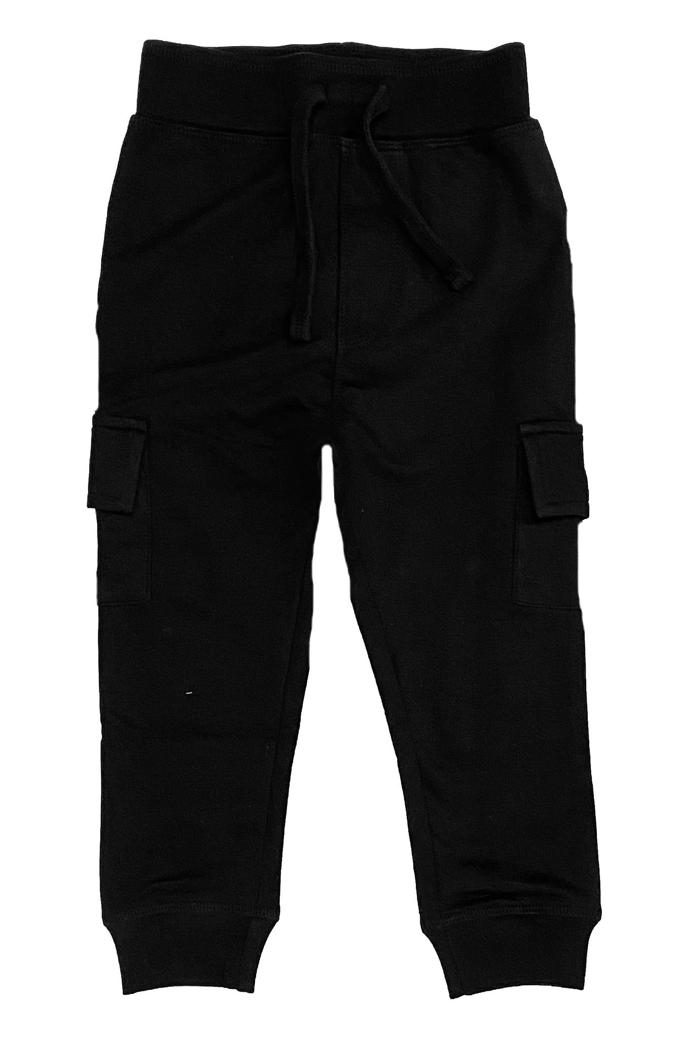 Mish Black Cargo Pocket Infant Jogger Pant