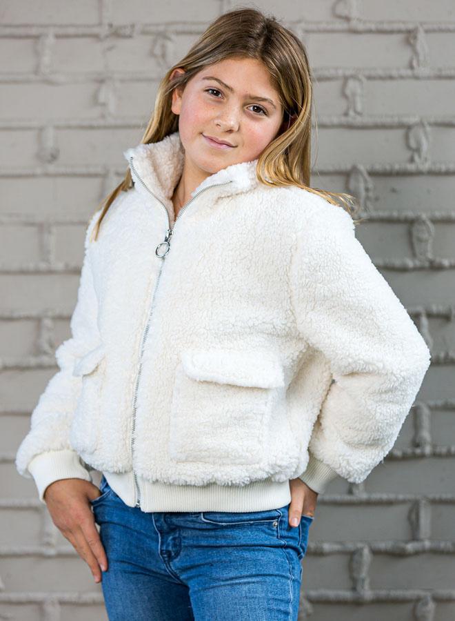 Design History White Sherpa Teddy Jacket