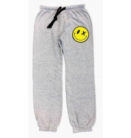 Love Junkie Grey Puff Smiley Sweatpant