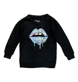 Chaser Lips Black Cozy Knit Pullover
