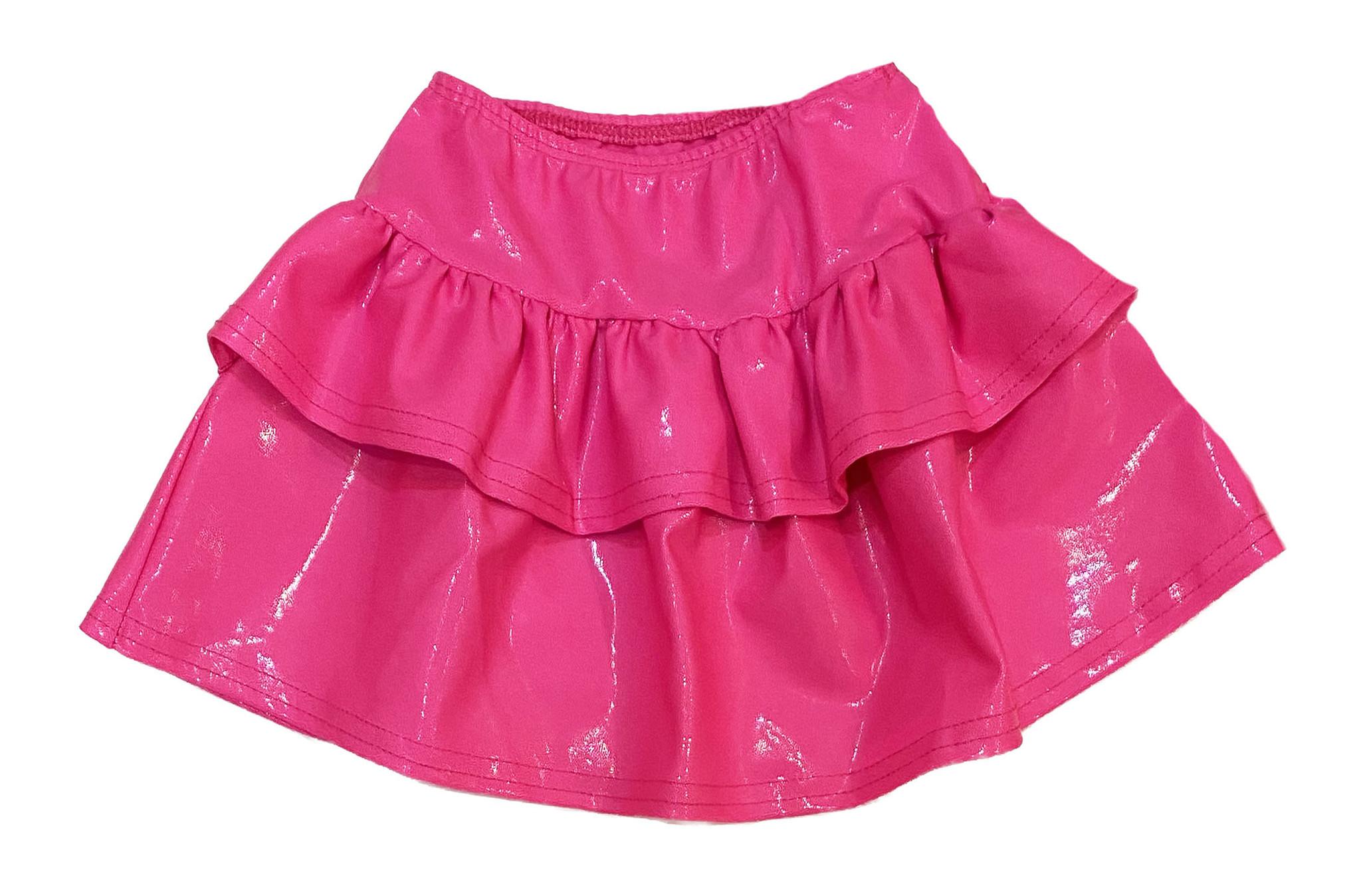 Dori Neon Pink Lame Skirt