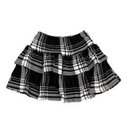 Dori Black & White Plaid Skirt