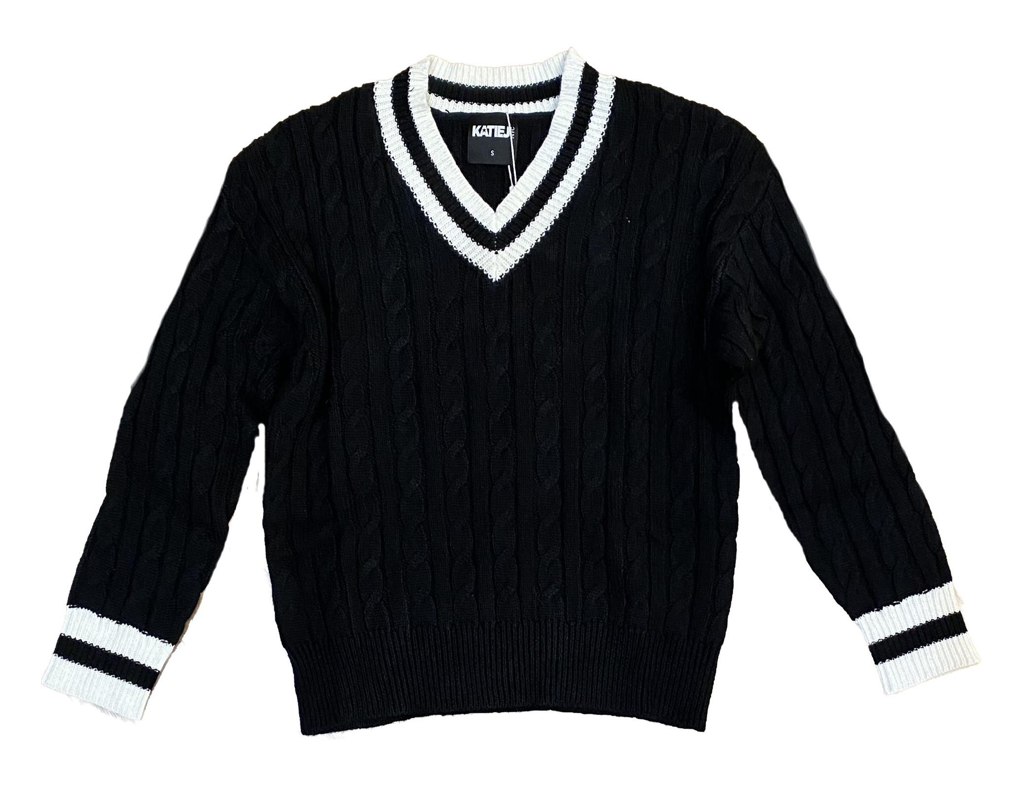 Katie J NYC Black Blair Sweater