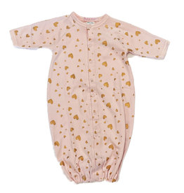 Baby Steps Pink Foil Hearts Converter Gown