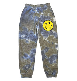Firehouse Olive/Blue Yellow Smiley Face Sweatpant