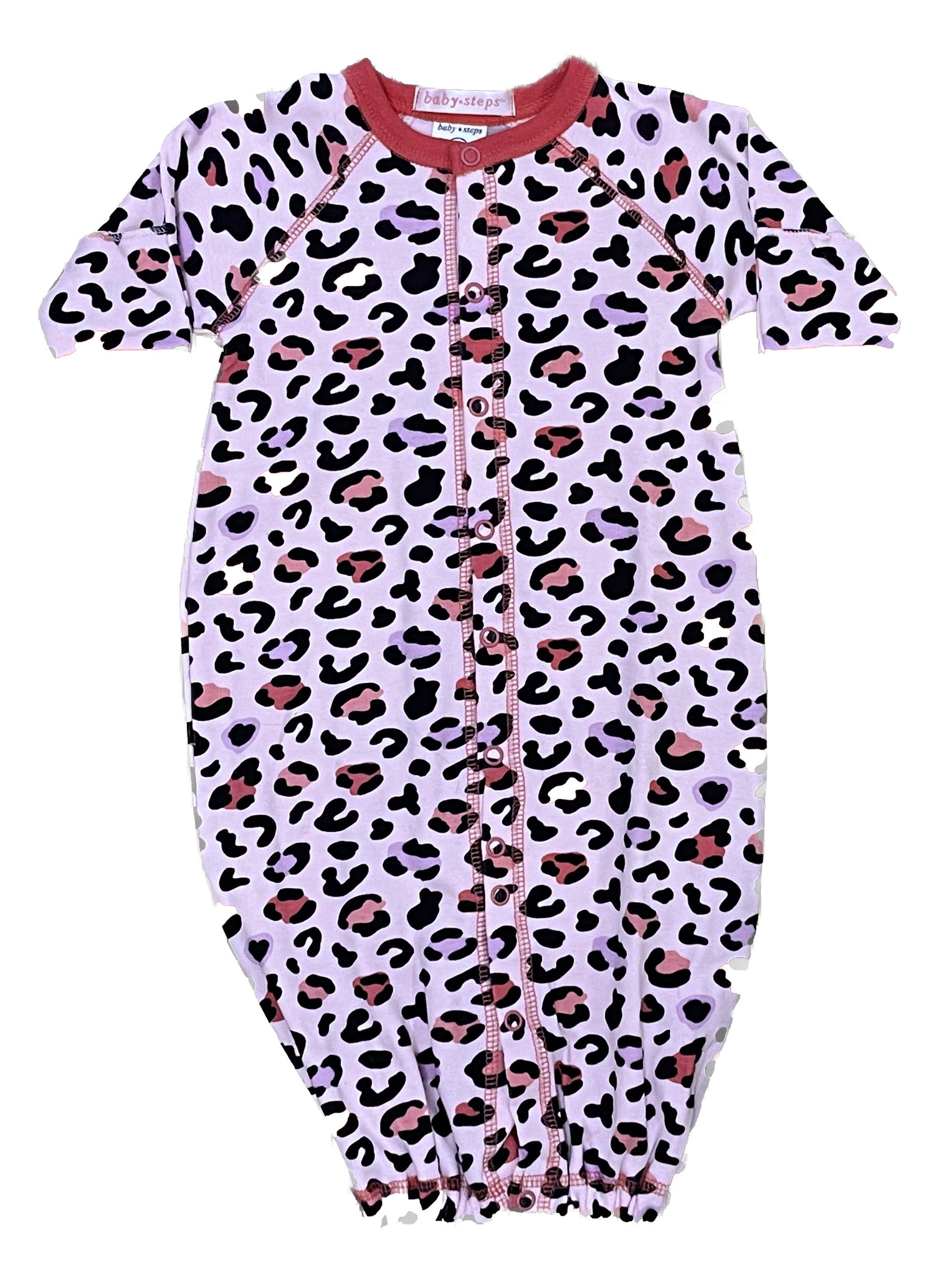 Baby Steps Pink/Purple Cheetah Converter Gown