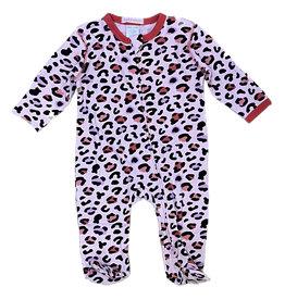 Baby Steps Pink/Purple Cheetah Footie