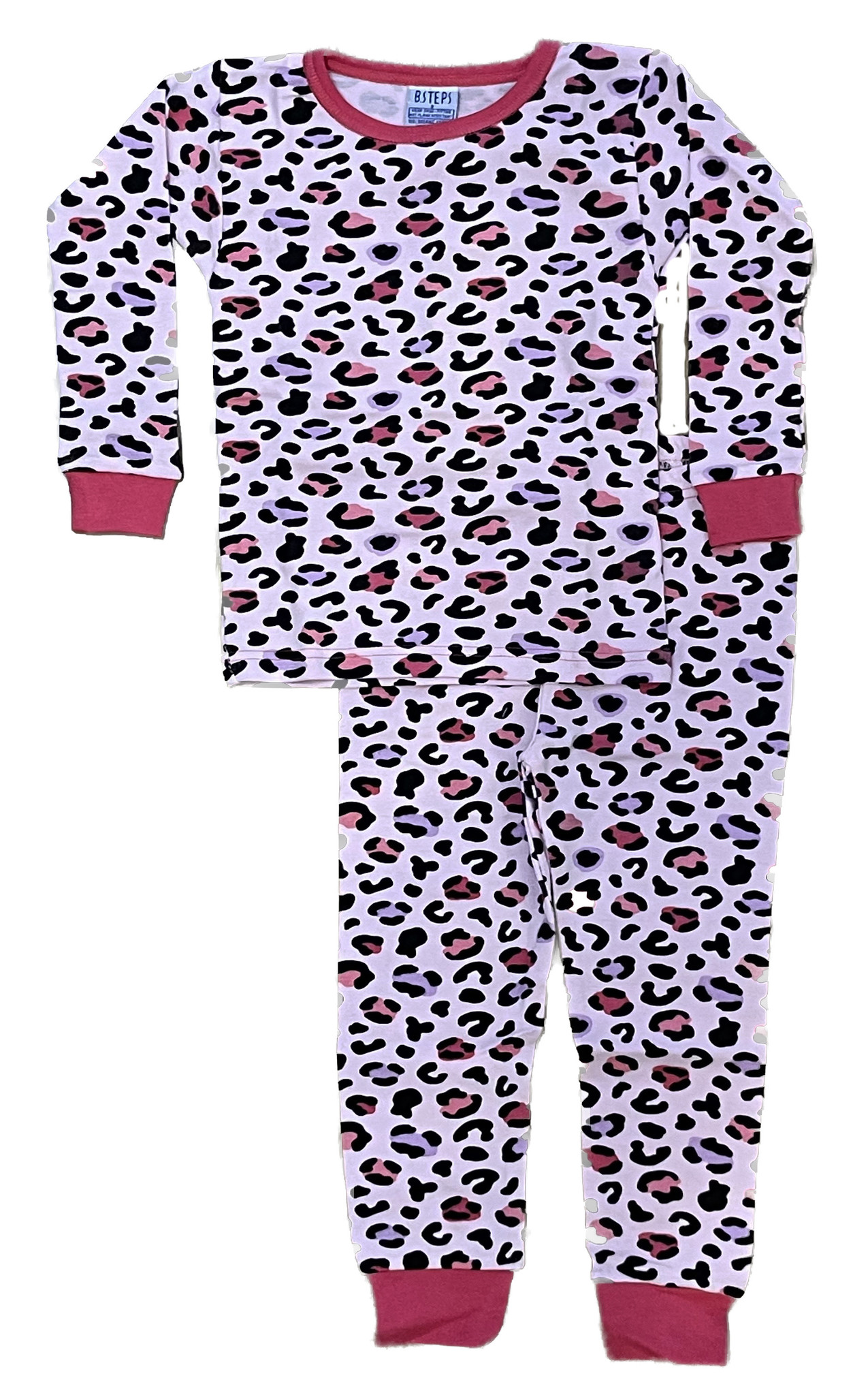 Baby Steps Pink/Purple Cheetah Infant PJ Set