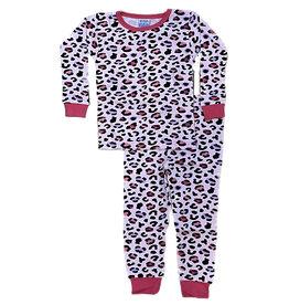 Baby Steps Pink/Purple Cheetah PJ Set