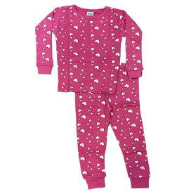 Baby Steps Bubblegum Foil Hearts PJ Set