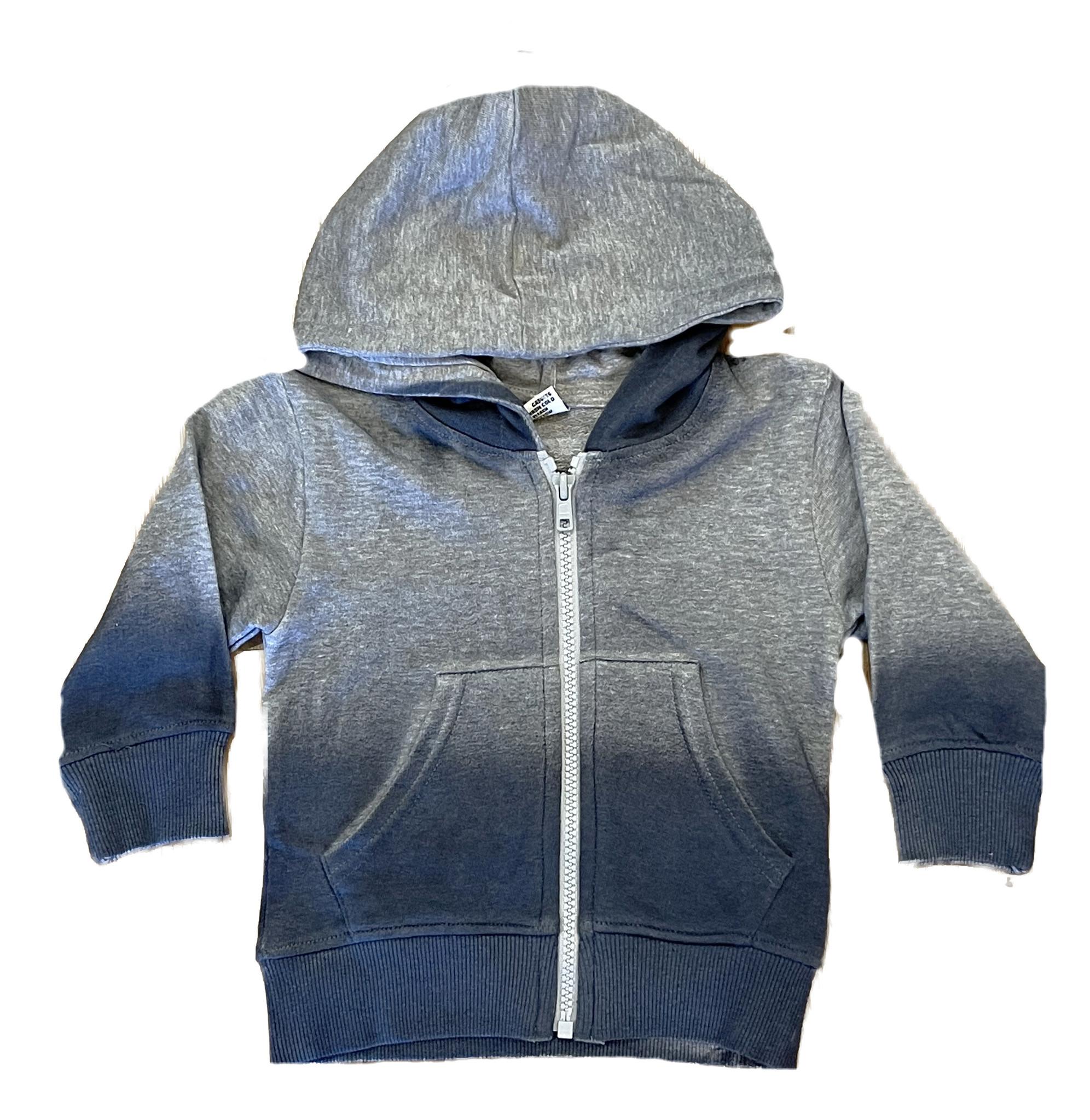 Mish Grey/Denim Ombre Zip Hoodie