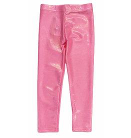 Dori Bubblegum Pink Lame Legging