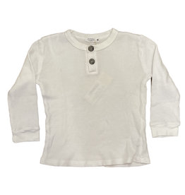 Cozii White Thermal Henley