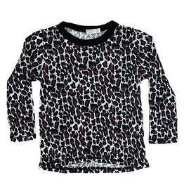 Cozii Wht/Pk Leopard Thermal Top