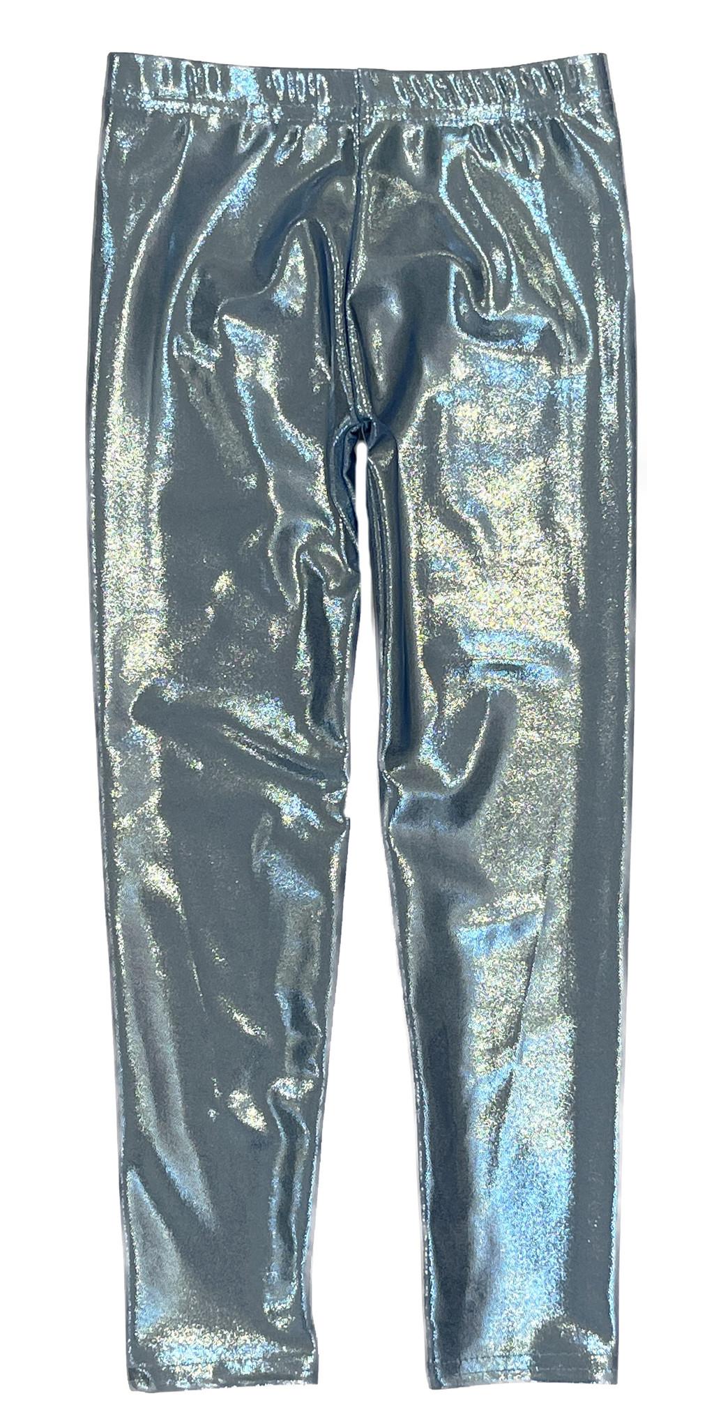 Dori Light Blue Lame Legging