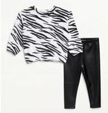 Splendid White Cozy Zebra Infant Legging Set