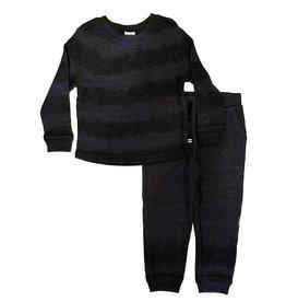 Splendid Charcoal Subtle Stripe Infant Thermal Set