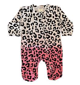 Little Mish Cheetah Dipdye Thermal Footie