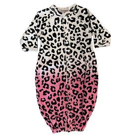 Little Mish Cheetah Dipdye Thermal Gown
