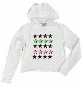 Firehouse Neon Stars White Hoodie
